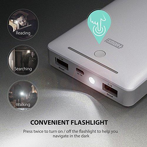 RAVPower 16750mAh 45A parallel USB usefu lightweight Charger External Battery Pack power Bank thru iSmart modern technology White lightweight power Banks