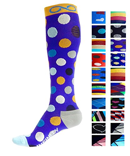 Infinity Compression Socks (1 pair) (Jelly Beans, L/XL) from A-Swift