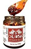 Chili Beak Mexican Hot Chili Oil with Chili Flakes for Pizza and Ramen (Original, 6 oz)