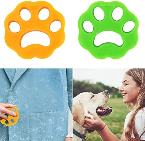 QPAO Pet Hair Remover for Laundry,Dogs and Cats Hair Catcher for Washing Machine,Safe, Non-Toxic, Reusable Lint Remover-2Psc