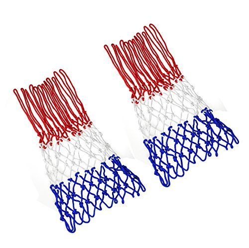 NKTM Professional 2 PCS Basketball Net All-Weather Heavy Duty Outdoor Net (12 Loops)