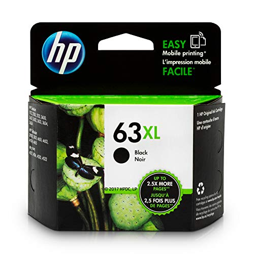 HP 63XL | Ink Cartridge | Black | F6U64AN (50 Black Remanufactured Ink)