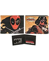 Bioworld Official Bifold Wallet- Marvel- Deadpool Faux Leather Wallet