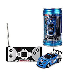 Coke Can Fast Mini RC Micro Racing Car RC Hobby Vehicle Toy(1PCS) (BLUE)