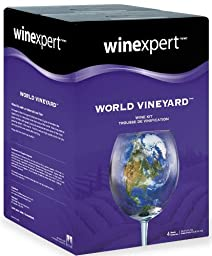 Winexpert World Vineyard Washington Merlot Wine Kit with Grape Skins