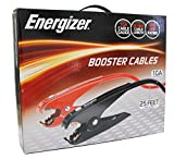 Energizer 1-Gauge 800A Heavy Duty Jumper Battery Cables 25 Ft Booster Jump Start - 25 Allows you to boost battery from behind a vehicle!