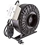 """exhaust fan 4 inch - Apollo Horticulture 4"""" Inch 190 CFM Inline Duct Fan with Built In Variable Speed Controller"""