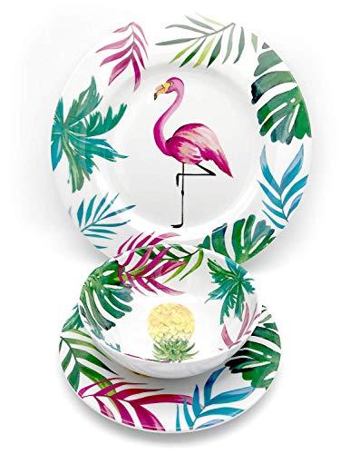 Ct Discount Store Elegant 12 Pieces Set Flamingo