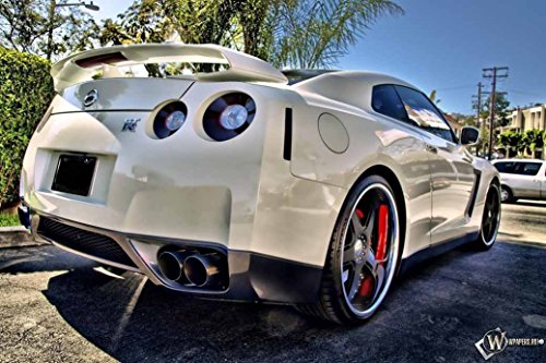 TST INNOPRINT CO Nissan GTR White Sunset Car Silk Poster 36x