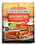 Casa Mexicana Chipotle Chicken Seasoning Mix, 1-Ounce Bags (Pack of 12)
