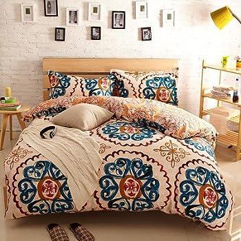 Amazon Com Lush Decor 7 Piece Boho Stripe Comforter Set