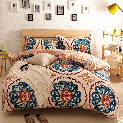 Newrara Home Textile,boho Bedding Set,bohemia Exotic Bedding Set,4pcs  Bedding Set