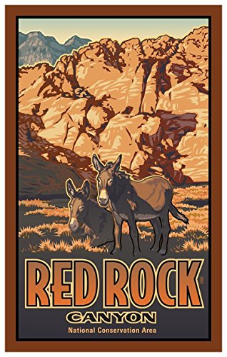 - Red Rock Canyon Donkeys Travel Art Print Poster by Paul Leighton (12