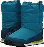 adidas outdoor Unisex-Kids CW Snowpitch Slip-on CP K Hiking Shoe, Mystery Petrol/Blue Night/Semi Solar Yellow, 2 Child US Little Kid