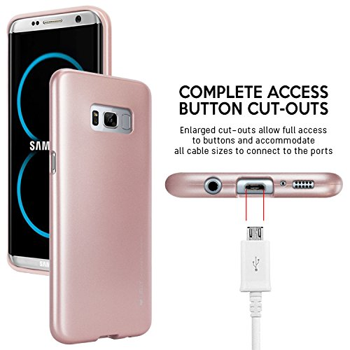 Galaxy S8 Case, [Ultra Slim Fit] GOOSPERY i-Jelly Case [Metallic Finish] Premium [Flexible] Shock Absorbing TPU Bumper Case [Anti-Discoloring Finish] for Samsung Galaxy S8
