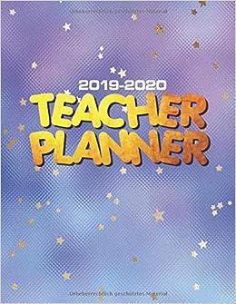 Amazon.com: Teacher Planner 2019 - 2020: Weekly & Monthly ...