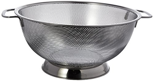 RSVP Precision Pierced Stainless Steel Colander product image