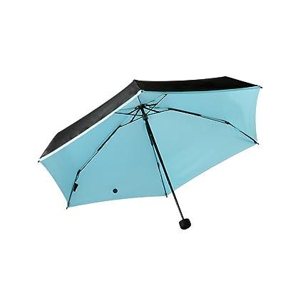 Umbrella Mini Paraguas Ligero, Cinco Paraguas Plegables, Negro ...