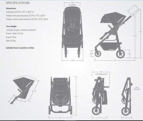 2018 UPPAbaby Cruz Stroller- Loic (White/Silver/Saddle Leather)