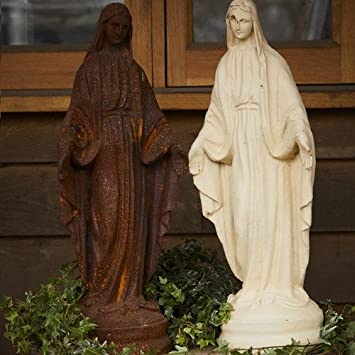 Cast Iron Virgin Mary Garden Statue/Ornament/Feature