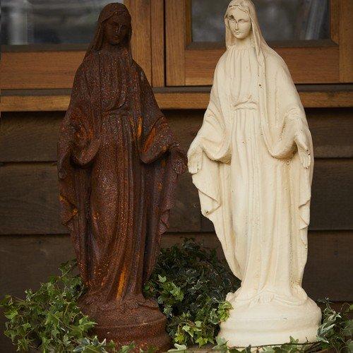 Cast Iron Virgin Mary Garden StatueOrnamentFeature Amazoncouk
