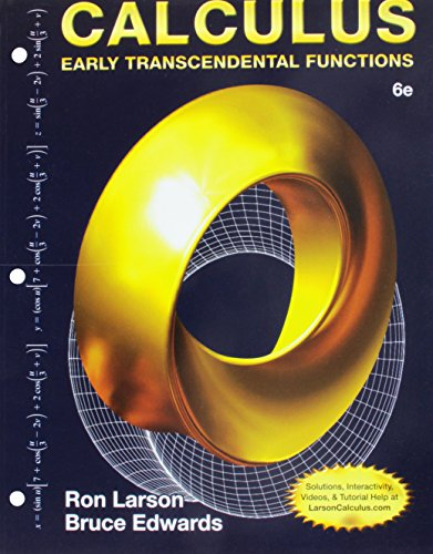 Bundle: Calculus: Early Transcendental Functions, Loose-leaf Version, 6th + WebAssign Printed Access Card for Larson/Edwards' Calculus: Early Transcendental Functions, 6th Edition, Multi-Term -  Larson, Ron, Loose Leaf