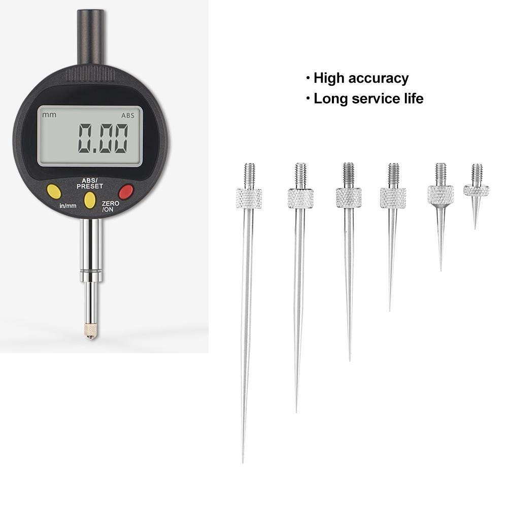 Liukouu High Accuracy Dial Gauge Measuring Needle Probe R0.15 L7//13//22//31//41//51 Set