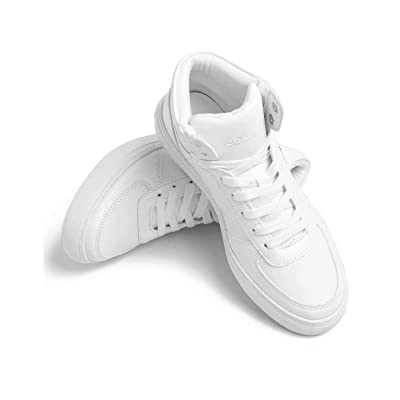 Leather Sneakers Fashion Dress Sneakers with Wear Resistant Sole for Men and Women | Fashion Sneakers