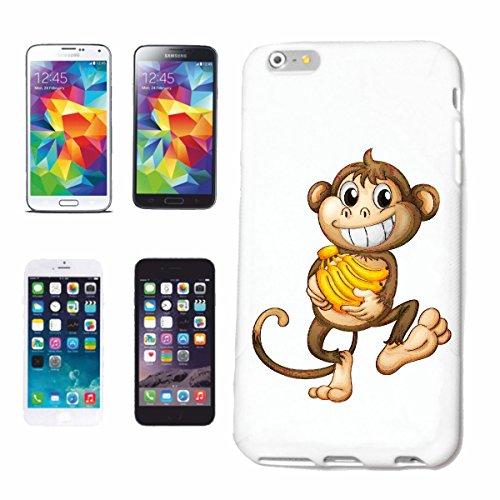 caja del teléfono iPhone 6S MONO CON EL BANANO STAUDE MONO Chimpancé del GORILA posterior de la plata APE CHARLY MONKEY KING KONG Caso duro de la cubierta Teléfono Cubiertas cubierta para el Apple i