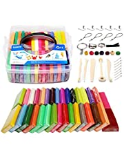 Modelling Clay Set - 32 Colors 800g/1.8LB Oven Bake Polymer Clay DIY Air Dry Clay DIY Polymer Clay Kit with Modeling Tools,Polymer Clay Toy for Kids/Best Gifts for Kids (Colorful)