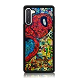 Spider Man Comic Collage Pattern Case for Samsung Galaxy Note 10 Plus Case Soft Silicone & Hard Back Cover [Shock Absorbent] Case