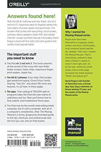 ipad the missing manual missing manuals amazon co uk david rh amazon co uk QuickBooks the Missing Manual ipad the missing manual 8th edition