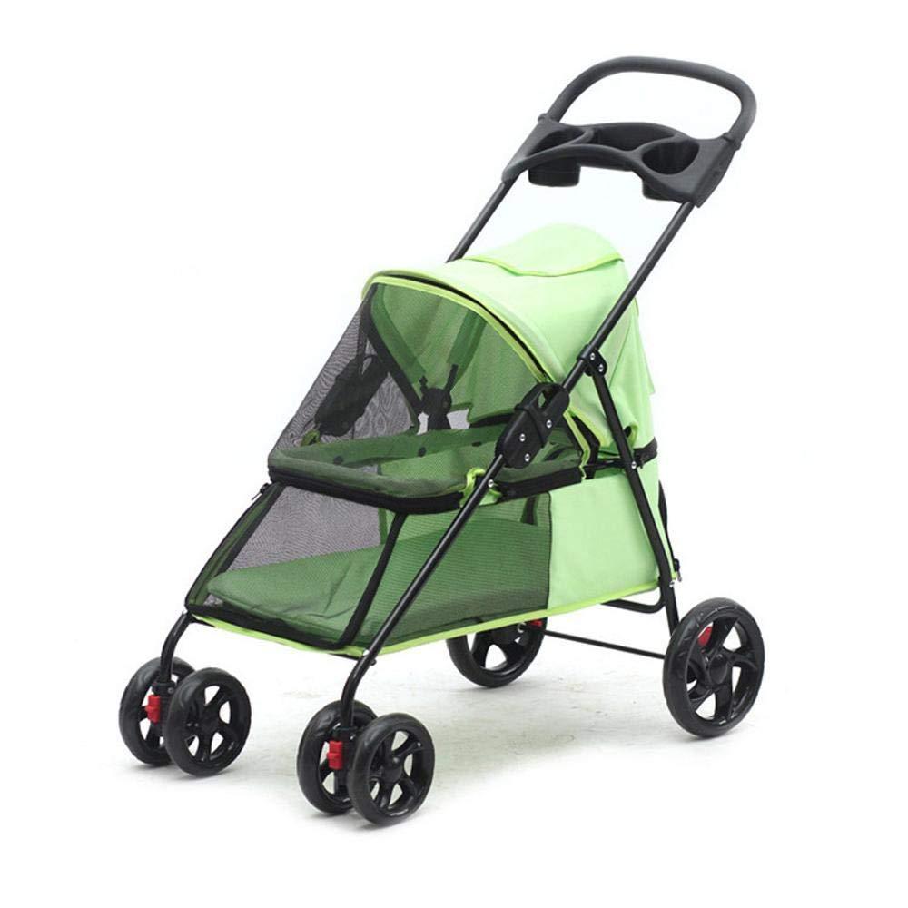 D Aoligei Pet Stroller Dog Pushchair Portable folding trolley Pet Travel Supplies
