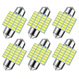 6pcs 31mm DE3175 DE3021 LED Light Bulbs for Car Interior Lights Map Dome Door Courtesy Light Bulbs-Earthland 31mm 1.25'' DE3021 DE3022 Festoon LED bulbs...