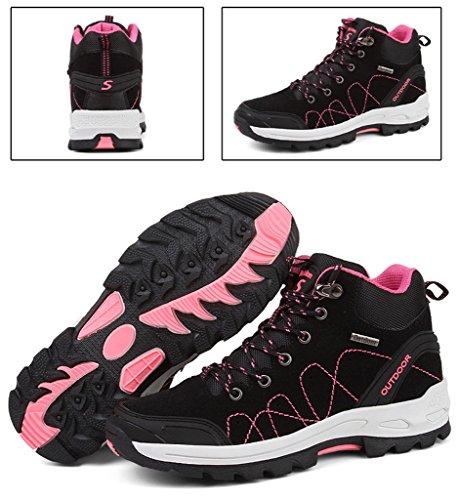 2017 Herbst Winter Turnschuhe Paare Schuhe High Top Baumwolle Stiefel Plus Plüsch Warm Trekking Und Wandern Schuhe 36-44 Black Pink