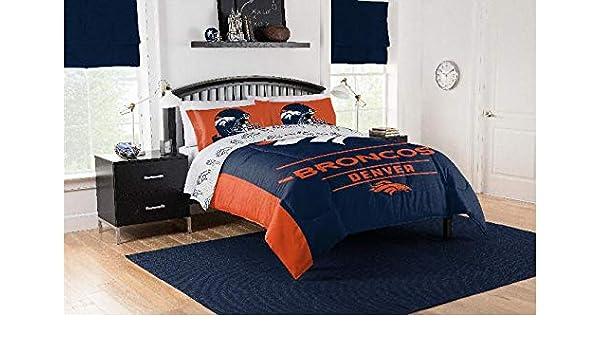 Amazon.com: Sports Bedding Denver Broncos Full/Queen ...