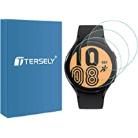 T Tersely (3 Pack) Screen Protector for Samsung Galaxy Watch 4 40MM, 9H Hardness Tempered Glass Screen Protector Film…