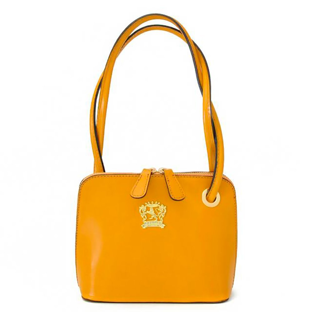 Pratesi Womens Italian Leather Roccastrada Woman Bag in Cow Leather in Mustard by Pratesi