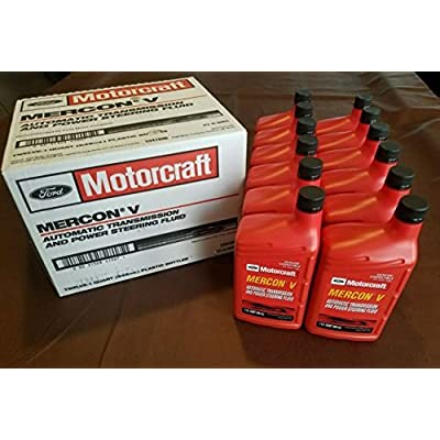 Motorcraft XT5QMC Mercon V Automatic Transmission Fluid - Case of 12 Quarts: Automotive