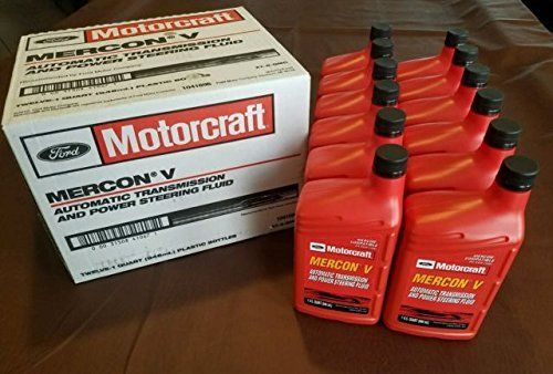 Motorcraft XT5QMC Mercon V Automatic Transmission Fluid - Case of 12 Quarts
