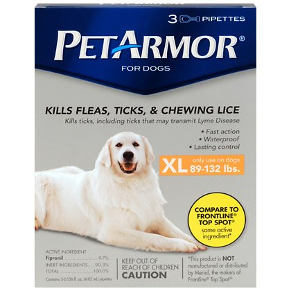 PetArmor Dogs 3pk Large 89 132lbs