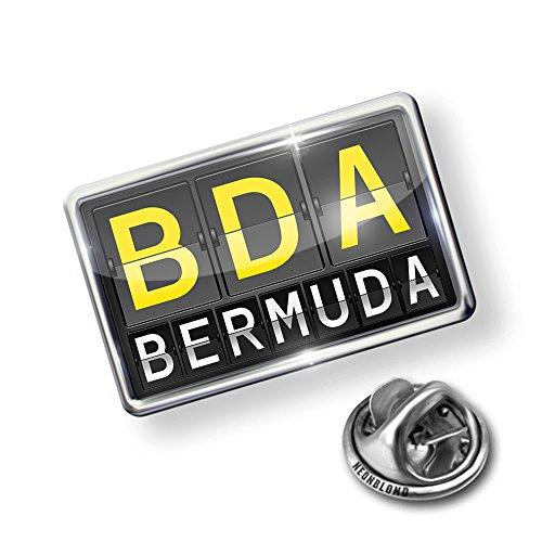 new Pin BDA Airport Code for Bermuda - Lapel Badge - NEONBLOND supplies