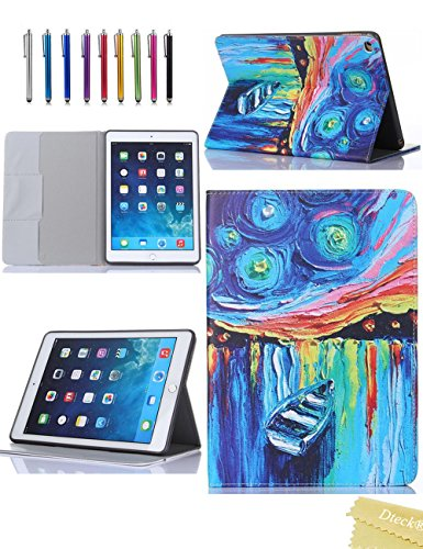 Boat Flowers (iPad Air 2/iPad 6 Case, Dteck(TM) Ultra Slim Elegant Flowers Design PU Leather Flip Stand Case for Apple iPad Air 2 / iPad 6 (4 A Small)