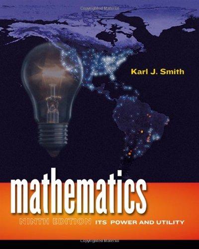 Mathematics Its Power & Utility (Hardcover, 2008) 9th EDITION