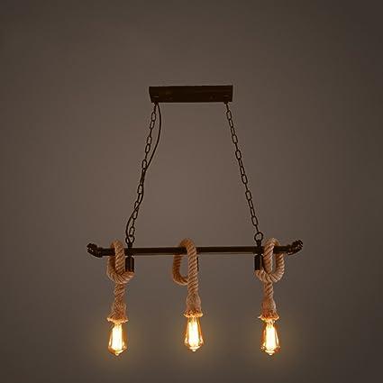 STAGE LIGHTING Lámpara de cuerda de cáñamo Colgante colgante ...