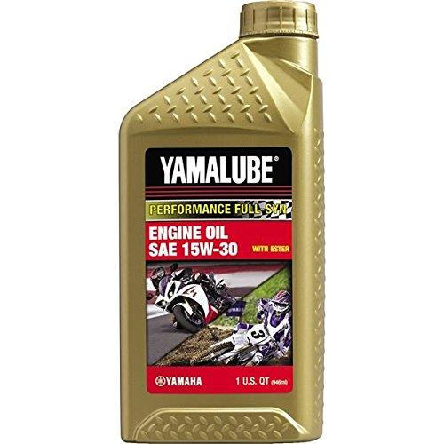 Yamaha LUB-15W30-FS-12 Yamalube 15W30 Full Synthetic Race Oil Quart; LUB15W30FS12 Made by Yamaha (Track Snowmobile Yamaha)