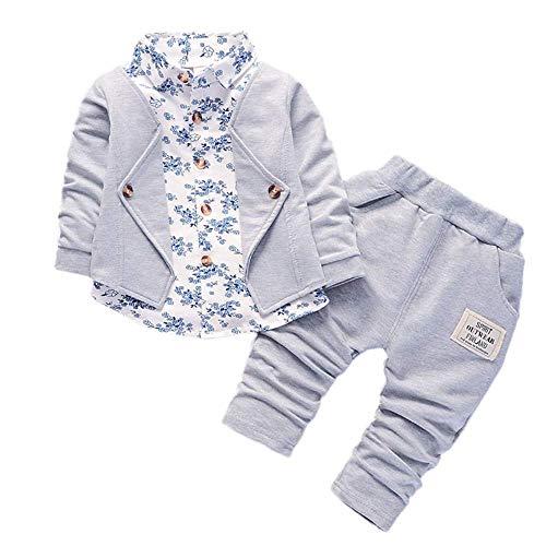 Sunday Kledingset voor kleine kinderen, voor jongens en meisjes, voor 0-6 maanden, formele bruiloft jas top + broek…