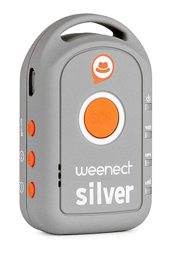 Weenect Silver WE401 - Localizador GPS para mayores (importado): Amazon.es: Electrónica