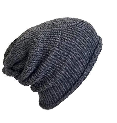 Amazon.com  Men s Lightweight Handmade Slate Grey Alpaca Slouchy ... 922029f723d