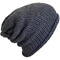 930b9499f16 Men s Lightweight Handmade Slate Grey Alpaca Slouchy Beanie Hat